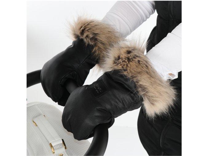 Junama rukávník boxerky s kožešinou Igloo černá