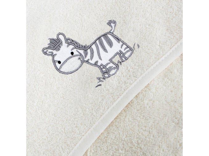 Ceba Froté ručník s aplikací a kapuckou zebra