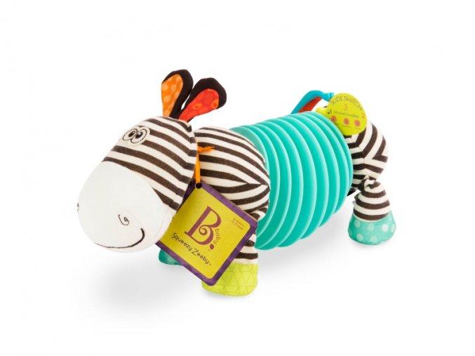 B-Toys Tahací harmonika zebra Squeezy Zeeby