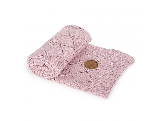 CEBA Pletená deka dárkově balená 90x90 Rýžový vzor