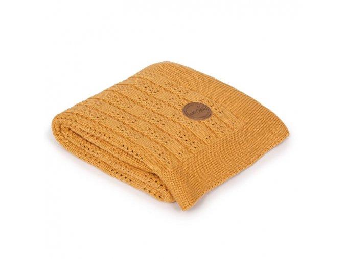 CEBA Pletená deka dárkově balená 90x90 Rybí kost Peru
