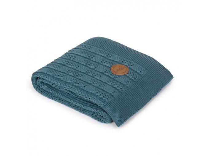 CEBA Pletená deka dárkově balená 90x90 Rybí kost Malibu