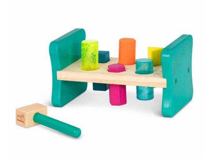B-Toys Zatloukačka dřevěná Pound & Play