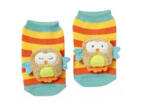 FEHN Forest chrastící ponožky sova