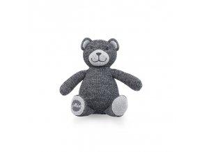 jollein pleteny medvidek natural knit anthracite