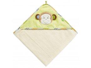 Baby Fehn MONKEY DONKEY Ručník s kapucí opička