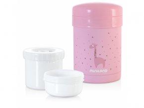 Miniland Termoska Thermic a kelímky na jídlo Pink 700ml