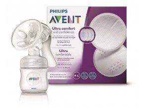 Philips Avent Odsávačka mateř.ml. Natural se zásobníkem 125ml+vložky 60ks