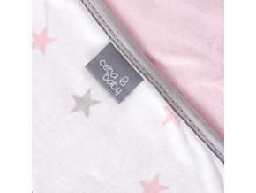 CEBA žerzej oboustranná deka 90x100 Medium Stars & Pink