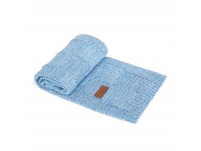 CEBA Pletená deka 90x90 Mřížky modrá