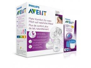 Philips Avent odsávačka mateřského mléka Natural+ Via 180ml 5ks