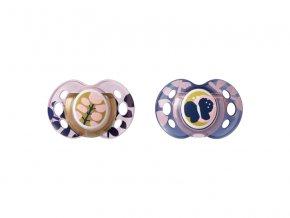 Tommee Tippee Šidítko C2N silikon Moda 2ks 18-36m růžové
