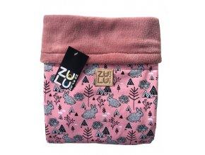Zu-Lu deka nepadací Zajíček pink new