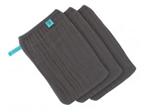 Lässig Muslin Wash Glove Set 3 pcs