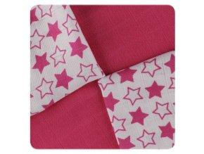 bambusove ubrousky xkko bmb 30x30 little stars magenta mix 725