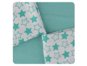 bambusove ubrousky xkko bmb 30x30 little stars turquoise mix b4f