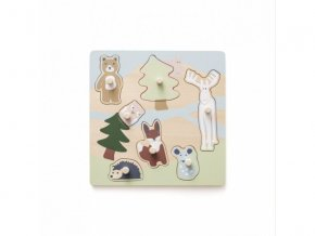 Kids Concept Puzzle dřevěné s úchytkami Edvin