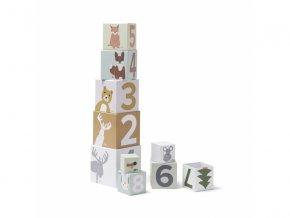 Kids Concept Kostky kartónové Edvin 10 ks