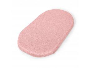 CEBA prostěradlo do kočárku (73-80 x 30-37) 2ks Dark grey + Pink