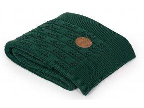 CEBA Pletená deka dárkově balená 90x90 Rybí kost Emerald