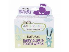 Jack N´ Jill Ubrousky na zuby a dásně 25ks