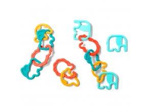 BabyOno Plastové kroužky zvířatka Link´n´play