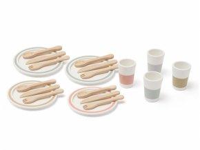 Kids Concept Jídelní sada dřevěná 20 ks Bistro