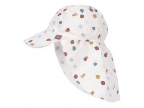 Lässig Sun Flap Hat spotted white 09-12 mo.