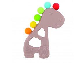 NATTOU Kousátko silikonové s výstupky bez BPA žirafa