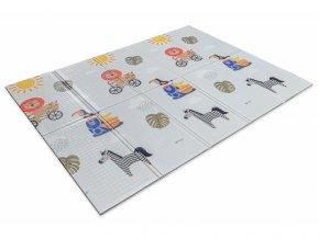 Taf Toys Hrací deka pěnová Savana a milníkové kartičky