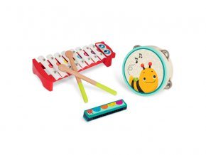 B-Toys Hudební nástroje dřevěné Mini Melody Band