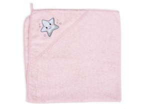Ceba osuška s kapucí Froté 100x100 pink star