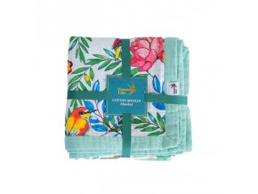Tommy Lise Bavlněná mušelínová přikrývka Blooming Day