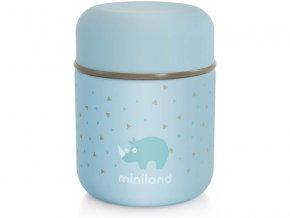 Miniland Termoska Silky na jídlo Blue 280ml