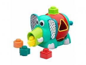 Infantino Slon Jumbo s vkládacími tvary