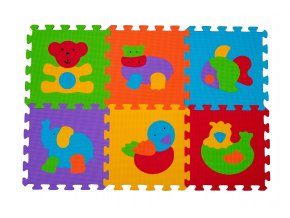Puzzle pěnové zvířátka 6ks, 6m+