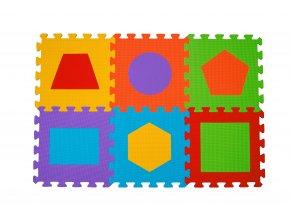Puzzle pěnové tvary 6 ks, 6m+