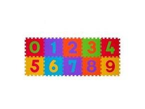 Puzzle pěnové číslice 10 ks, 6m+