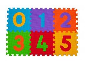 Baby Ono Puzzle pěnové číslice 6ks, 6m+