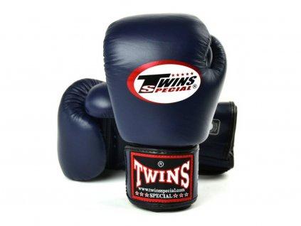 3095 4 boxerske rukavice kozene twins navy barva