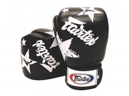 687 3 boxerske rukavice fairtex bgv1 nation print cerna barva