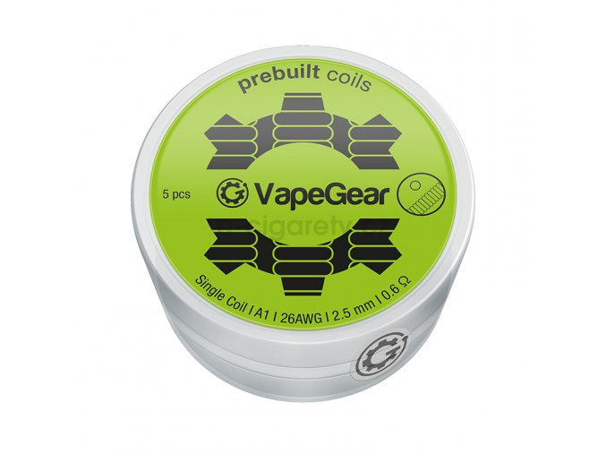 vapegear predmotane spiralky single coil a1 06