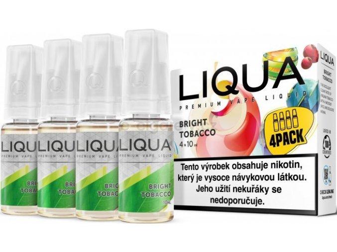 Liquid LIQUA CZ Elements 4Pack Bright tobacco 4x10ml-12mg (čistá tabáková příchuť)