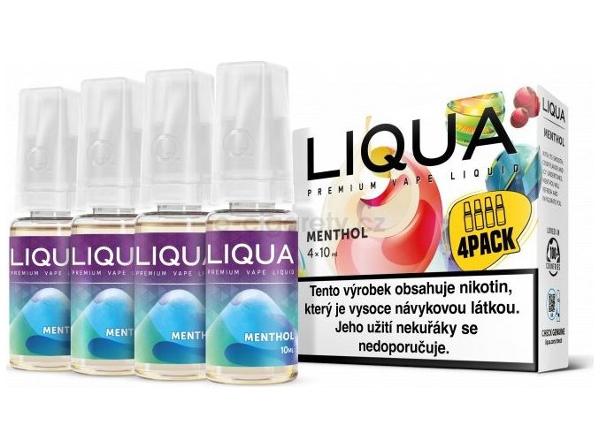 Liquid LIQUA CZ Elements 4Pack Menthol 4x10ml-12mg (Mentol)
