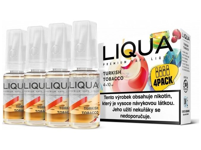 Liquid LIQUA CZ Elements 4Pack Turkish tobacco 4x10ml-12mg (Turecký tabák)