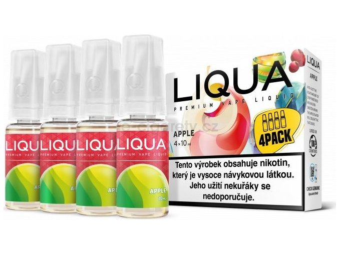 Liquid LIQUA CZ Elements 4Pack Apple 4x10ml-6mg (jablko)