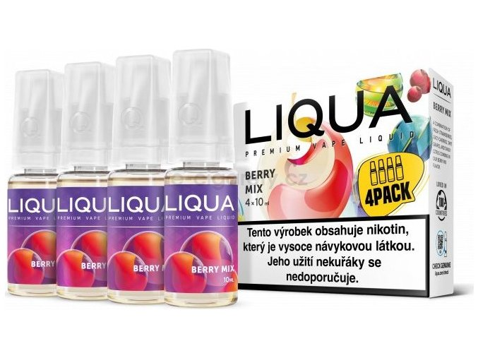 Liquid LIQUA CZ Elements 4Pack Berry Mix 4x10ml-3mg (lesní plody)