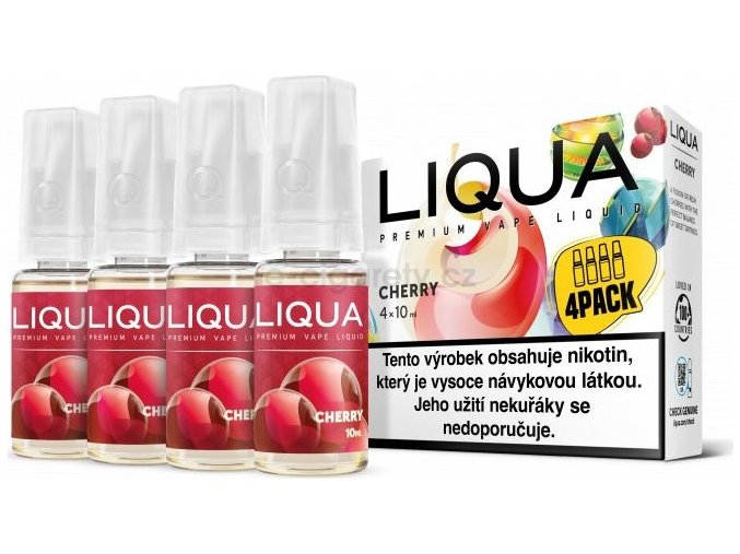 Liquid LIQUA CZ Elements 4Pack Cherry 4x10ml-3mg (třešeň)