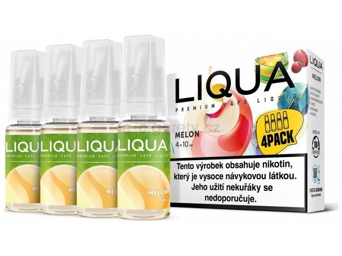 Liquid LIQUA CZ Elements 4Pack Melon 4x10ml-6mg (Žlutý meloun)