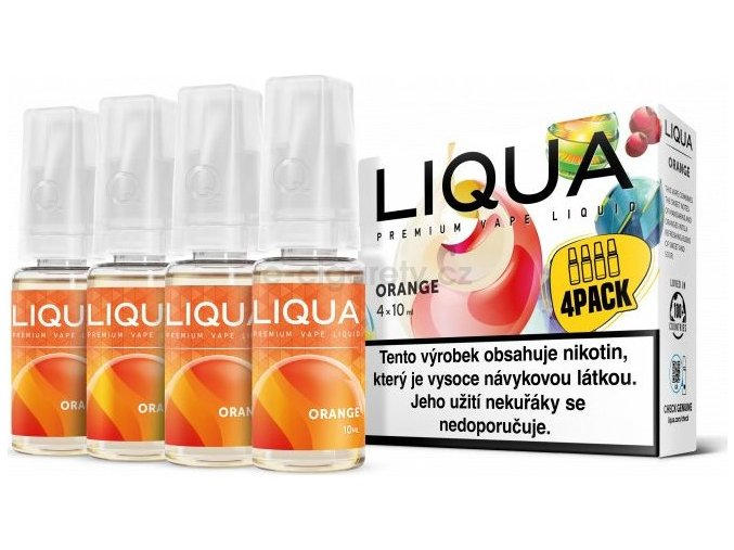 Liquid LIQUA CZ Elements 4Pack Orange 4x10ml-3mg (Pomeranč)
